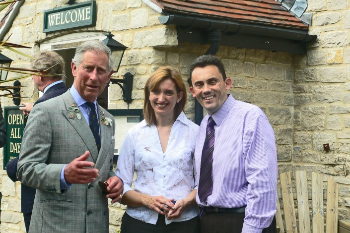 Prince Charles visit to the Wanut Tree Inn