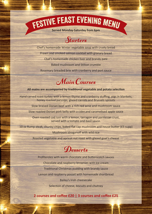 Walnut Tree Christmas Menu 2019 b