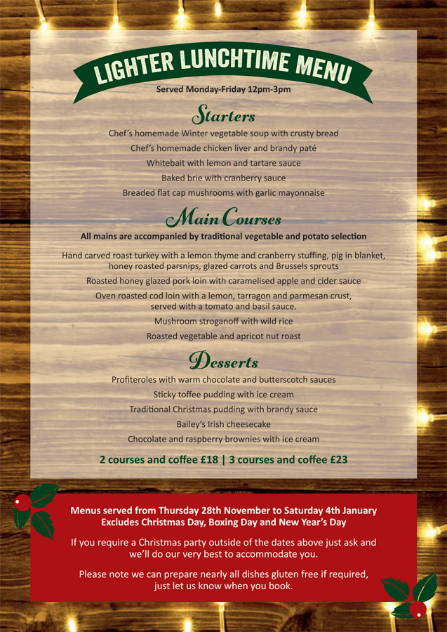 Walnut Tree Christmas Menu 2019 c
