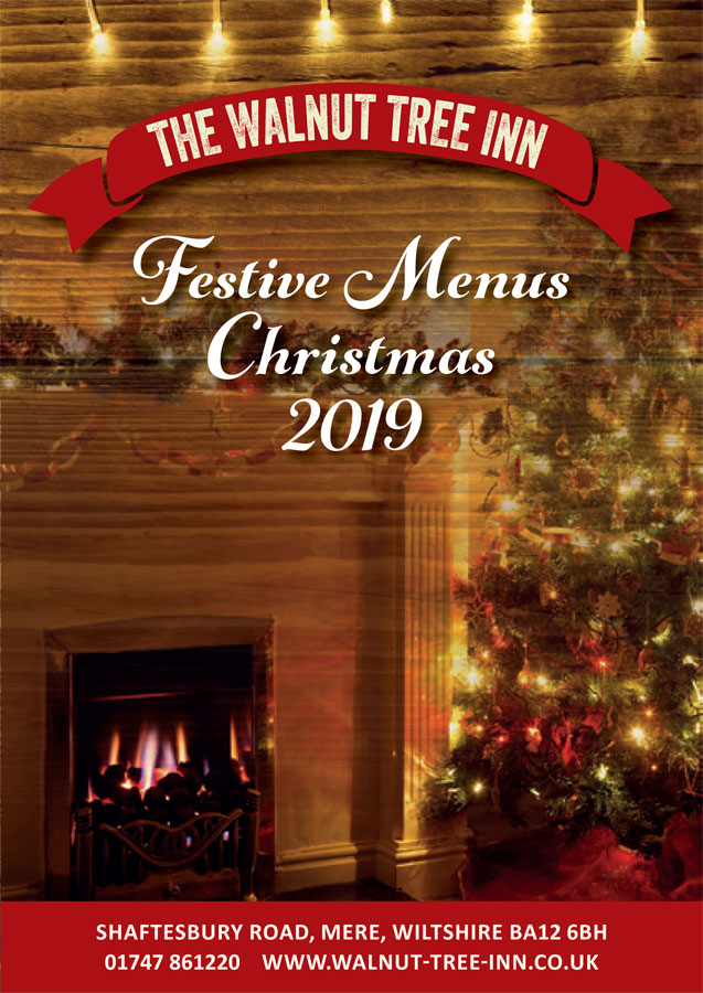 Walnut Tree Christmas Menu 2019