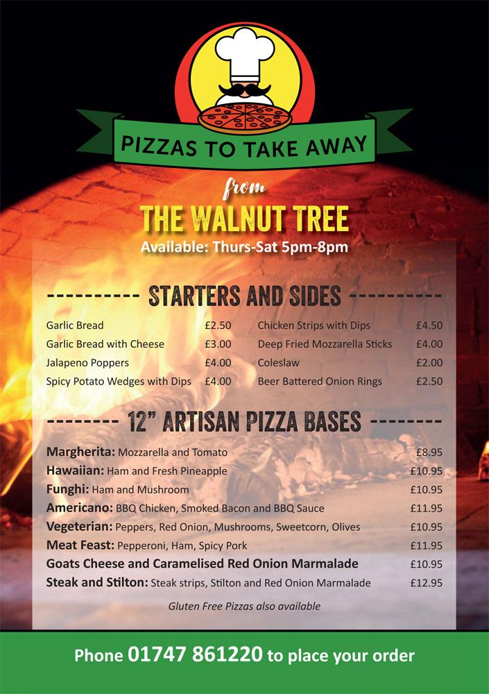 Walnut Tree Pizza Menu Jan 2021